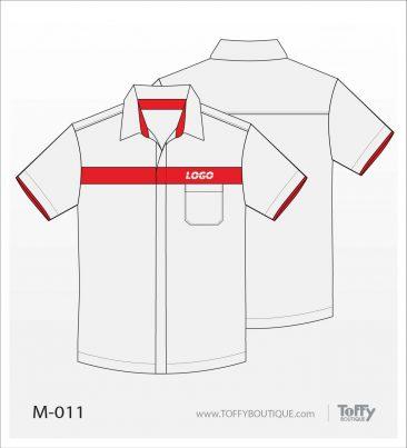 เสื้อเชิ้ตช่าง ยูนิฟอร์ม 1-011